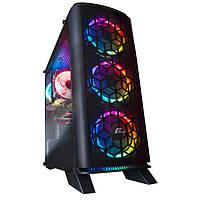 Корпус Frime Magneto red led без БП (Magneto-U3-GLS-4RDRF); 1xUSB 3.0, 2xUSB, Левая боковая панель из закаленного стекла, 4шт Red Double Ring Fan