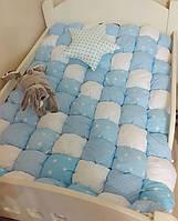 Бомбон покривало на дитяче ліжко 90х190. Одеяло бомбон для хлопчика. Покрывало на кровать