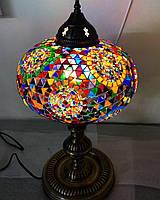 Настольный турецкий светильник Sinan из мозаики ручной работы цветной