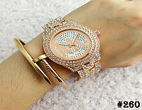 Женские кварцевые наручные часы / годинник Michael Kors (реплика) цвета розового золота (260)