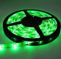 Светодиодная лента 12V smd5050 ІР20 зеленая 60led негерметичная