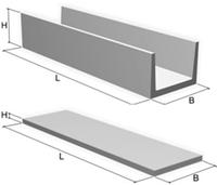 Лоток железобетонный Л-3-15 (3х0.78х0.38)