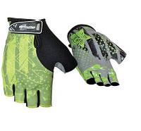 Перчатки без пальцев In Motion NC-2306-2014 черн-зел. L