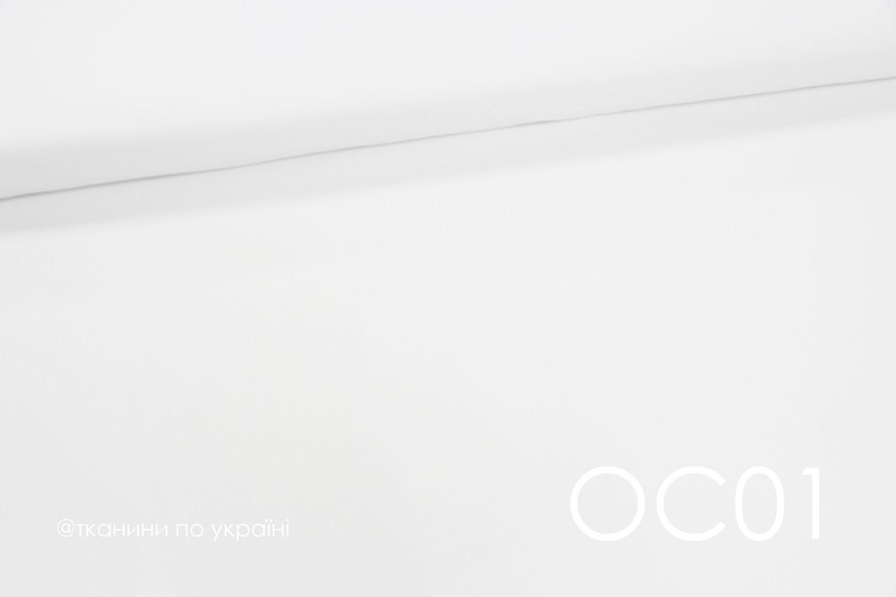 Ткань сатин однотонный Белый