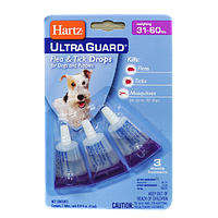 3 в 1 Капли для собак от блох и клещей от 14 до 27 кг Hartz UltraGuard