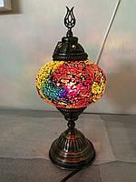 Настольный турецкий светильник Sinan из мозаики ручной работы красный