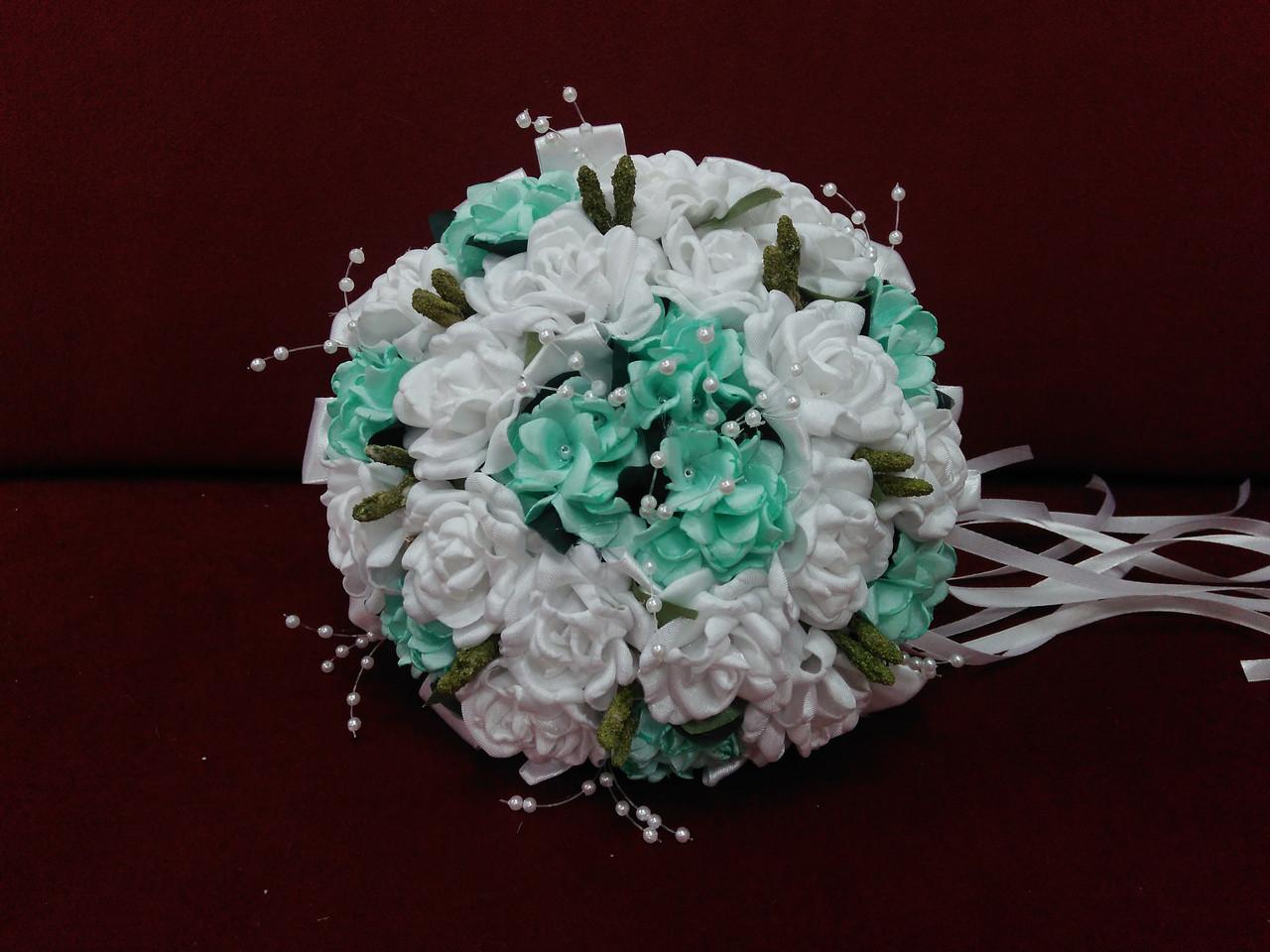 Весільний букет-дублер білий з м'ятним