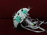 Весільний букет-дублер білий з м'ятним, фото 2