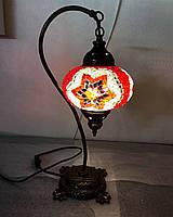 Настольный изогнутый турецкий светильник кэмэл  Sinan из мозаики ручной работы красный