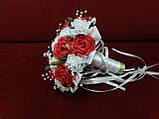 Свадебный букет-дублер белый с красным, фото 2