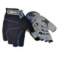Перчатки без пальцев In Motion NC-2311-2014 черн-синий XL