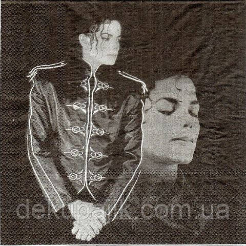 Редкая салфетка для декупажа Майкл Джексон