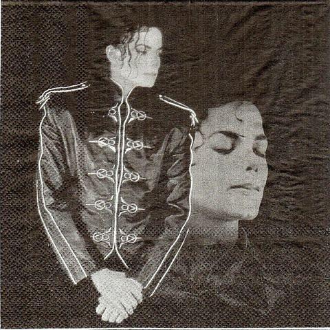 Рідкісна серветка для декупажу Майкл Джексон