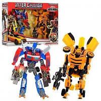 Робот Трансформер Оптимус Прайм и Бамблби, трансформируются в машинки!
