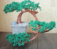 """Сувенир подарок дерево """"Бонсай"""" из бисера"""
