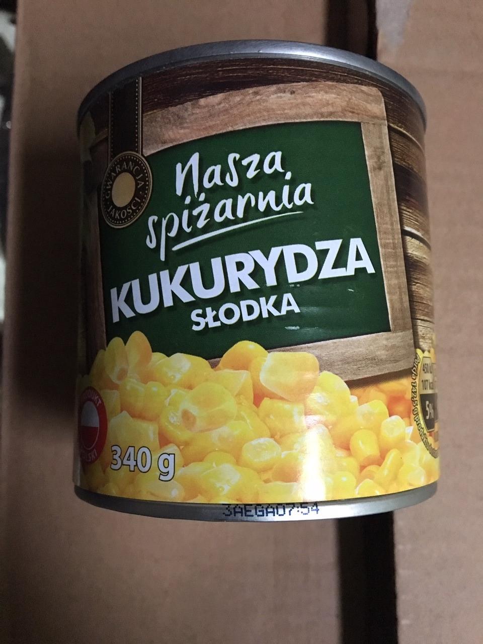 Консервированная кукуруза Nasza Spizarnia 340 g