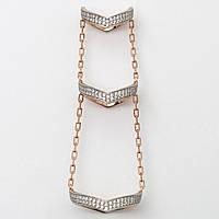 Серебряное фаланговое кольцо 500309\3-ЗР, фото 1
