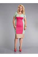 Трикотажное платье-футляр фисташкового цвета, фото 1