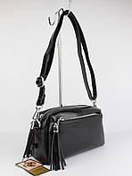 Небольшой клатч, сумочка через плечо Valensiy 20717-1В черная, фото 1