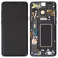 Дисплейный модуль (экран) для Samsung Galaxy S9 Plus G965 с рамкой, черный, оригинал #GH97-21691A