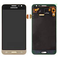 Дисплей для Samsung Galaxy J3 (2016) J320, модуль в сборе (экран и сенсор), золотистый, TFT++