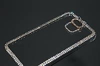Чехол для Samsung S5 G900 прозрачный с кристаллами, фото 1
