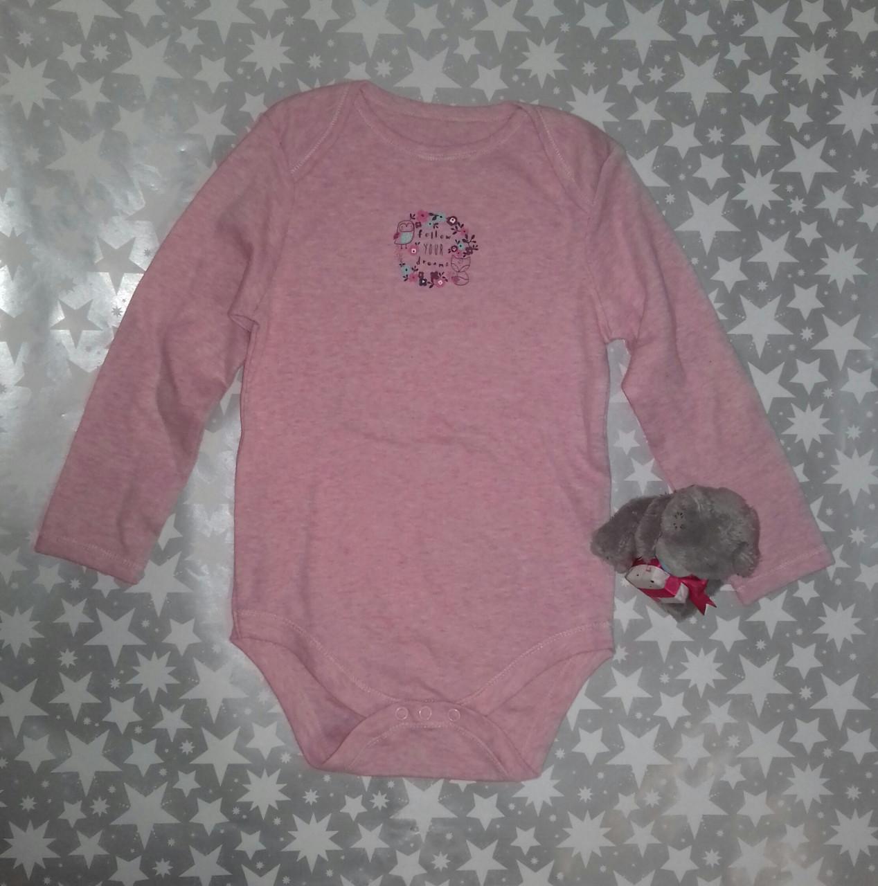 Боди для девочки розовый Primark  р.98см.