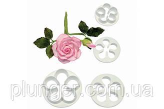 Набір кондитерських вирубок для мастики Троянда
