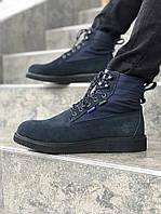 Мужские ботинки Timberland синие топ реплика