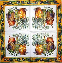 Серветка декупажна Оливки і оливкова олія 1616