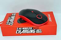 Бесшумная беспроводная мышь для компьютера на аккумуляторе Zornwee W880B USB mouse, фото 1
