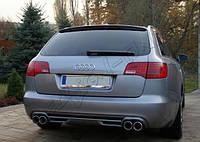 Юбка диффузоро тюнинг обвес заднего бампера Audi A6 C6 Avant