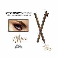 Карандаш для бровей Eye Brow Stylist деревянный с щеточкой, тон: коричневый, REVERS dark brown (Польша)