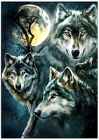 """Набір алмазної вишивки """"Самотній вовк"""", фото 1"""