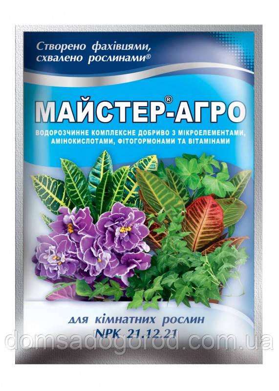 Комплексное удобрение МАСТЕР-АГРО 21.12.21. для комнатных растений Valagro 25 г