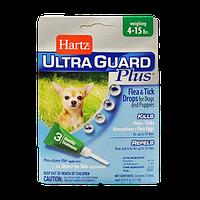 Капли для маленьких собак от блох и клещей от 2 до 7 кг Hartz Ultra Guard Plus 4 в 1