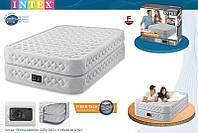 Двухспальные надувные кровати INTEX Supreme Air-Flow Bed 64464, с насосом 220В