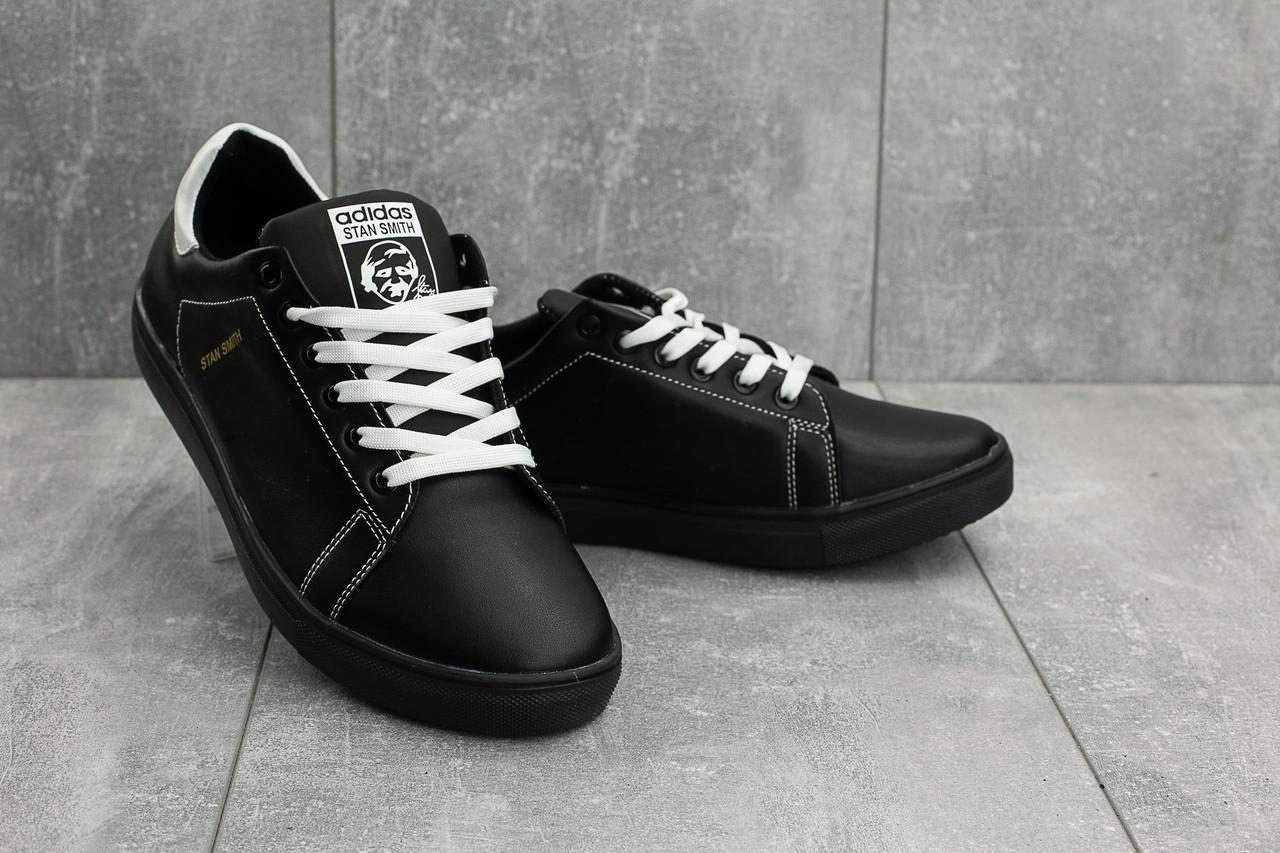 d5ad6977 Мужские зимние кроссовки Adidas CrossSAV 112 с черные с белыми шнурками топ  реплика - Интернет-