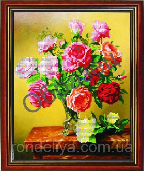 Схема для вышивки бисером «Букет роз»