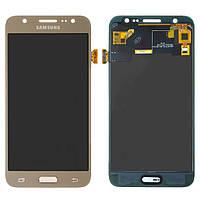 Дисплей для Samsung J500 Galaxy J5 (2015), модуль в зборі (екран і сенсор), золотистый, TFT+