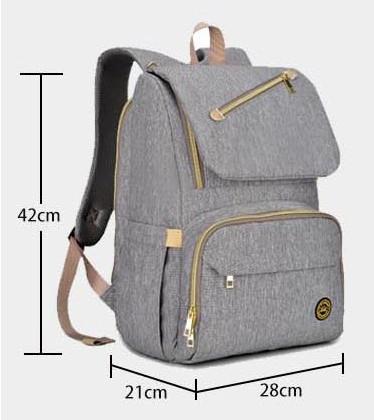 Фирменный серый рюкзак для мамы. Бесплатная доставка по Украине!