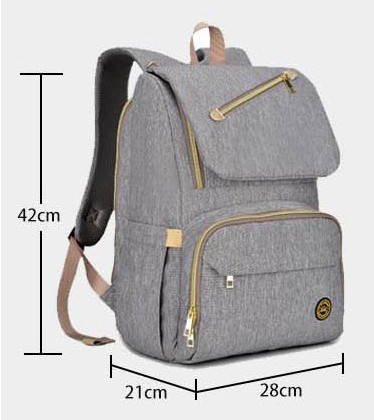 Фирменный серый рюкзак для мамы. Бесплатная доставка по Украине!, фото 2