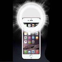 Светодиодное кольцо-подсветка для селфи на телефон Белый, фото 1