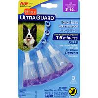 Hartz UG Plus 4 в 1 капли от блох и клещей для собак средних пород