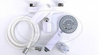 Білий змішувач для ванни пластиковий змішувач для душа, фото 2