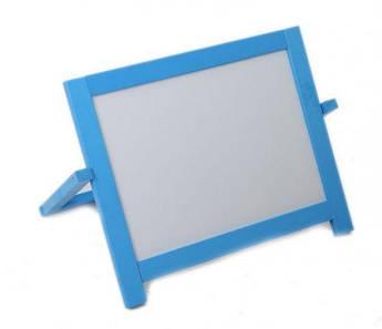 Магнитная доска для рисования настольная (голубая)