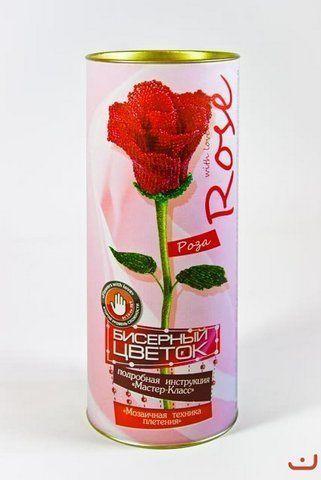 """Вышивка бисером """"Роза"""""""