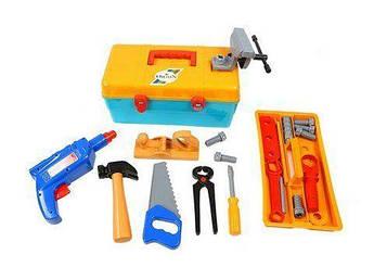 """Детский набор инструментов """"Маленький столяр"""" в чемоданчике"""