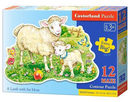 """Пазлы Макси Castorland """"Ягнёнок и овечка"""" , 12 элементов"""