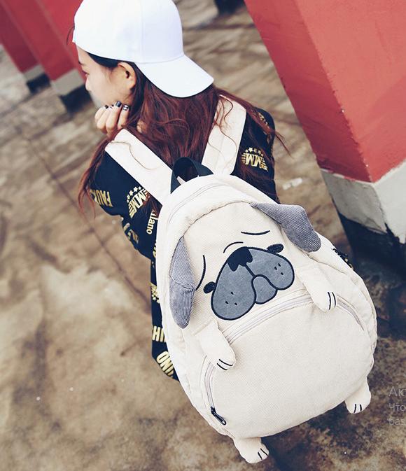 Рюкзак дитячий Собака з вухами і лапами